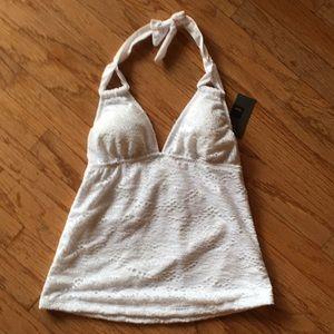 Mossimo white swim top. Xs
